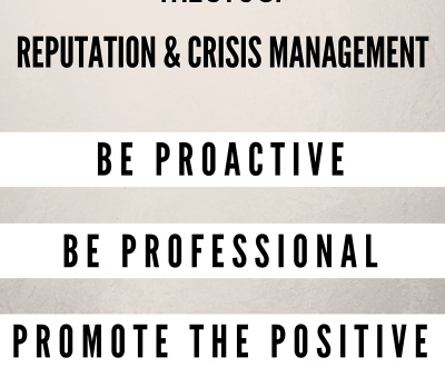 Reputation and Crisis Management