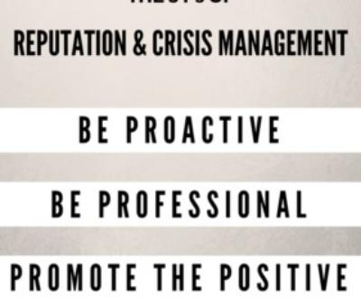 Reputation and Crisis Management