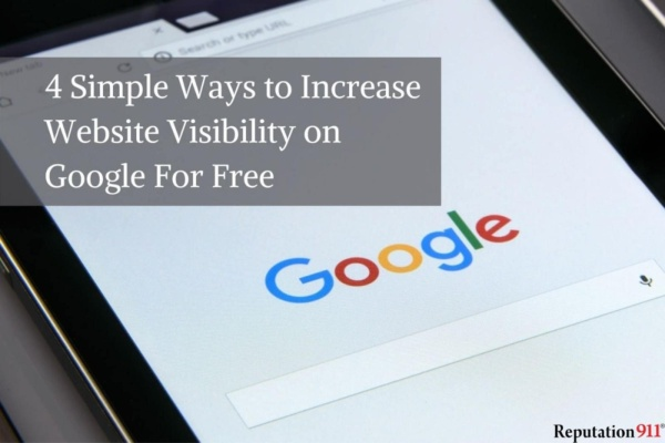 4 Simple Ways to Increase Website Visibility on Google For Free