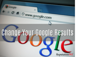 changing Google search results