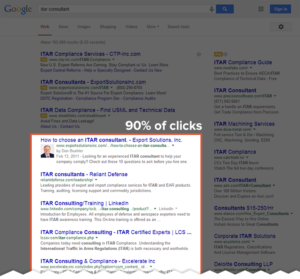 First Page Google Search Results Clicks