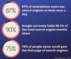 Google Search Results Statistics & Percentages
