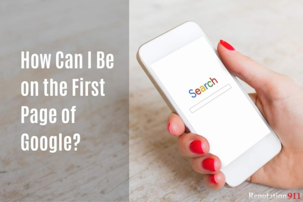 How Can I Be on the First Page of Google