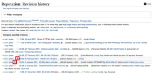Reputation Revision History Wikipedia
