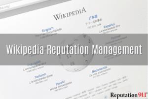Wikipedia Reputation Management